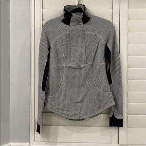 Lululemon workout long sleeve grey zip up jacket